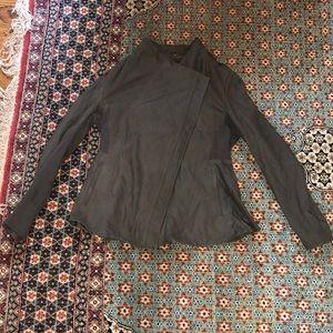 Elie Tahari medium leather blazer coat